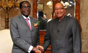 Zimbabwe President Robert Mugabe with South African President Jacob Zuma met to hold discussions on the political and economic issues of Southern Africa. There will be a SADC summit soon. by Pan-African News Wire File Photos