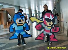 8-bit Megaman & Protoman (Jonno212) Tags: anime cosplay manga 8bit fanime megaman fanimecon 2011 protoman nerdreactor