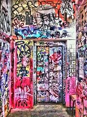Rising up. (Sascha Unger) Tags: light urban berlin art abandoned shop museum germany lost graffiti design licht angle kunst centre elevator perspective ruin kunsthaus center urbanart departmentstore stadt sascha mitte tacheles perspektive abriss aufzug iphone kaufhaus coolfx dynamiclight sascha2010 saschaunger