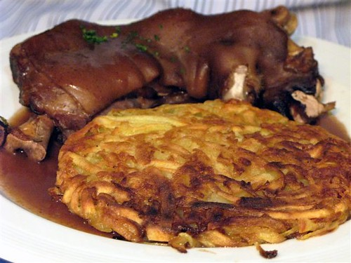 pork knuckle and rosti