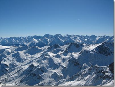 Panorama dalla vetta del Monte Tibert