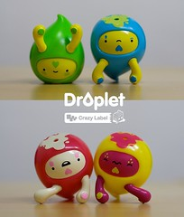 Droplet Vinyl Toy ~ Sunny side up! (JamFactory) Tags: strange toy gavin vinyl down figure droplet upside jamfactory crazylabel