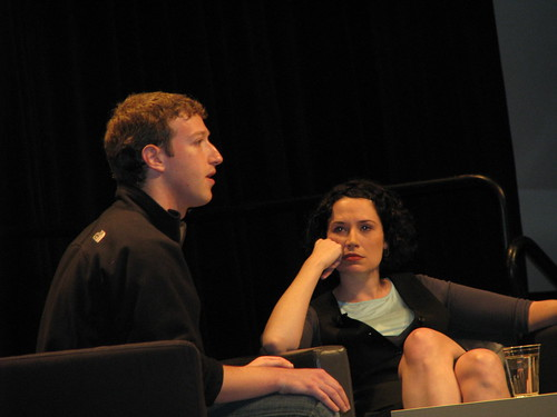 Mark Zuckerberg and Sarah Lacy