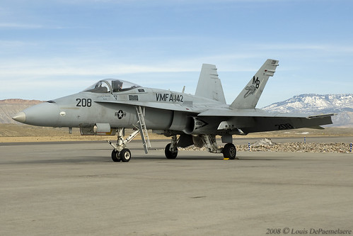 McDonnell Douglas F/A-18A Hornet -- VMFA-142 'Gators' - NAS Atlanta, GA (BuNo 162875)