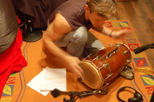 Mridangam South India drum played by James from Canada