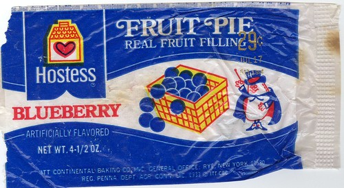 Hostess blueberry fruit pie