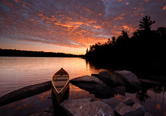 Sunrise on Diamond Lake (Peter Bowers) Tags: lake ontario canada nature water sunrise landscape photo nikon natural outdoor sigma canoe naturalbeauty diamondlake sigma1020mm temagami peterbowers nikond200 outdoorphotography peterbowersphotography