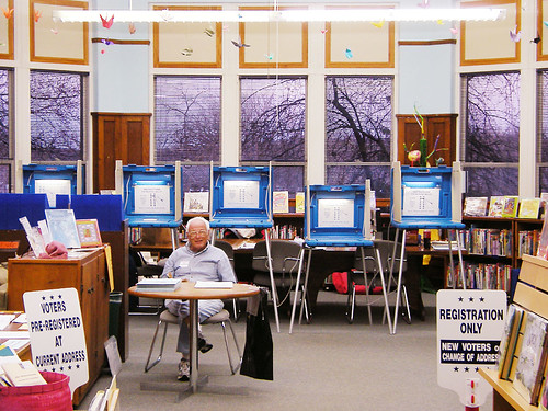 Spring Election Polling Place in Madison's Dudgeon School