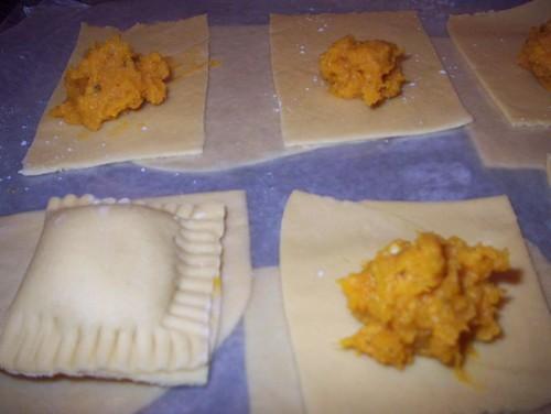assembling ravioli