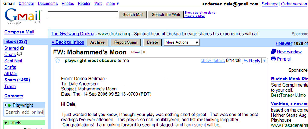 Mohammed's Moon donna