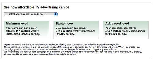 Google TV Ads Start Page