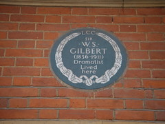 Photo of William Schwenck Gilbert grey plaque