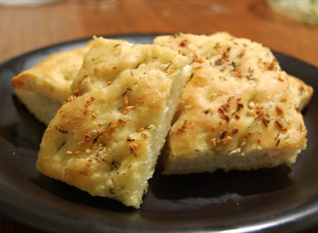 Thyme and garlic focaccia