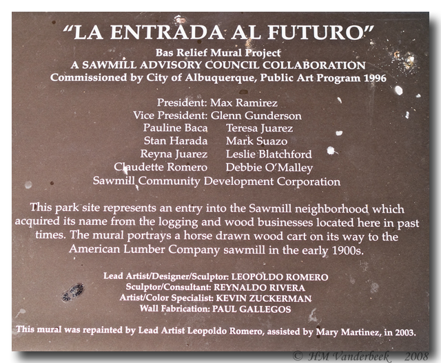 Plaque for 3D Mural