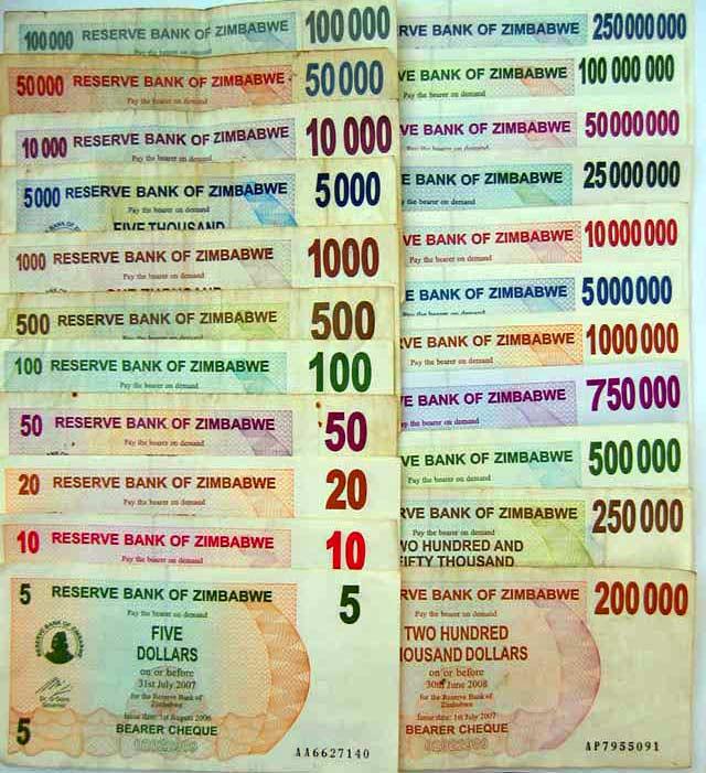 Una pesante inflazione ha ridotto lo Zimbabwe alla miseria