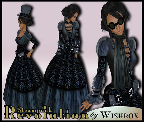 Steampunk Revolution in Steel Blue