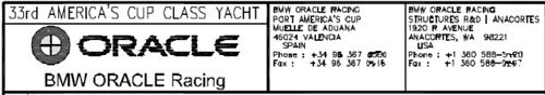 BMW Oracle Racing Copyright