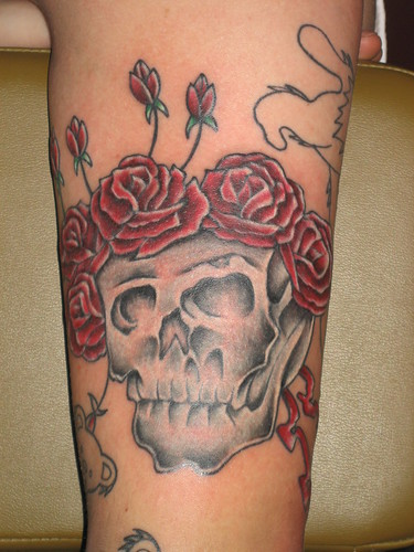 Grateful Dead Tattoo - Skull with Roses