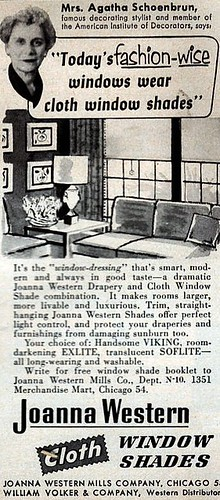 1953 Woman's Day ads Window Shades
