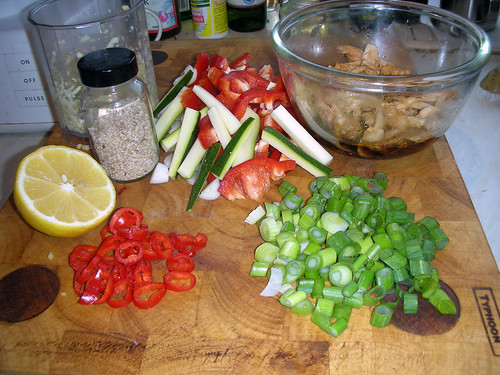 ingredients for a stir fry