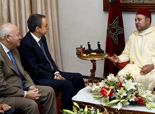 Zapatero con el Rey Mohamed VI