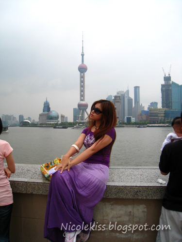 posing for pearl tower