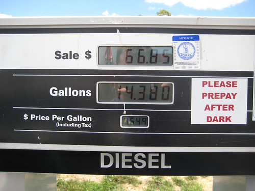Cheaper Diesel down south