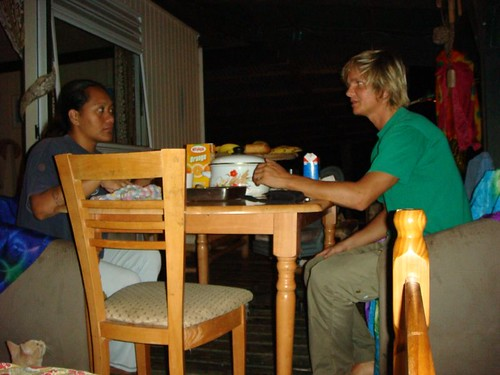 My last dinner on Tahiti, with Areti in Faa'a.