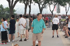 the crowds gather (noneck) Tags: china asia beijing 2008 nationalstadium summerolympics