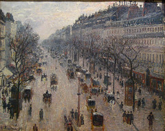 The Boulevard Montmartre on a Winter Morning (Maulleigh) Tags: new york city morning winter art museum boulevard montmartre met camille metropolitan metropolitanmuseum pissarro the