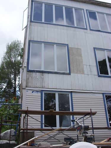 building getting siding