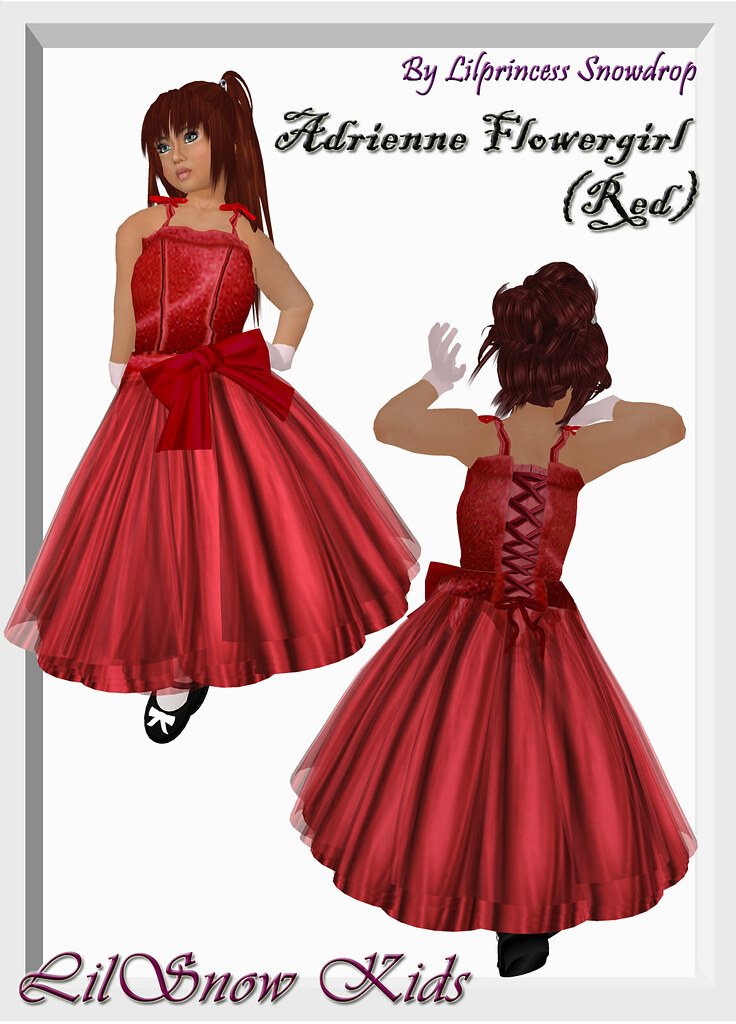 Red Flower Girl Dresses