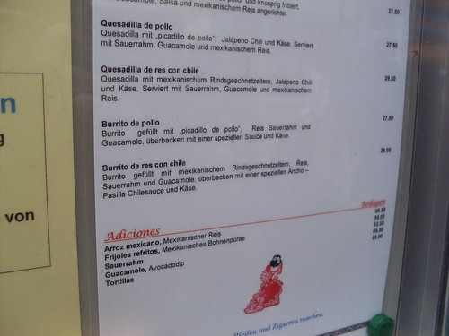 The price of a burrito in Basel is almost 30 Swiss Francs