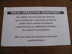 Fraud operations department