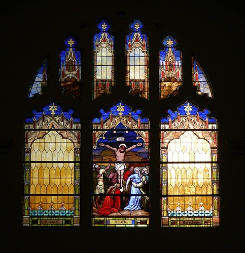 Holy Cross Abbey Stained Glass Window by you.