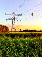 Hot Air (Allard Schager) Tags: cameraphone summer holland netherlands landscape nokia hotair ballon