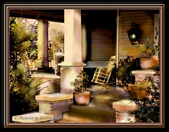 Escape to Grandma's Porch (Rebel XT Shots / Bobbie) Tags: light sepia painting swing porch sensational paintshoppro rebelxt photoart antiquecolorization eutawalabama colourartaward elitephotography magicdonkeysbest thelightpainterssociety finephotoshopdesign