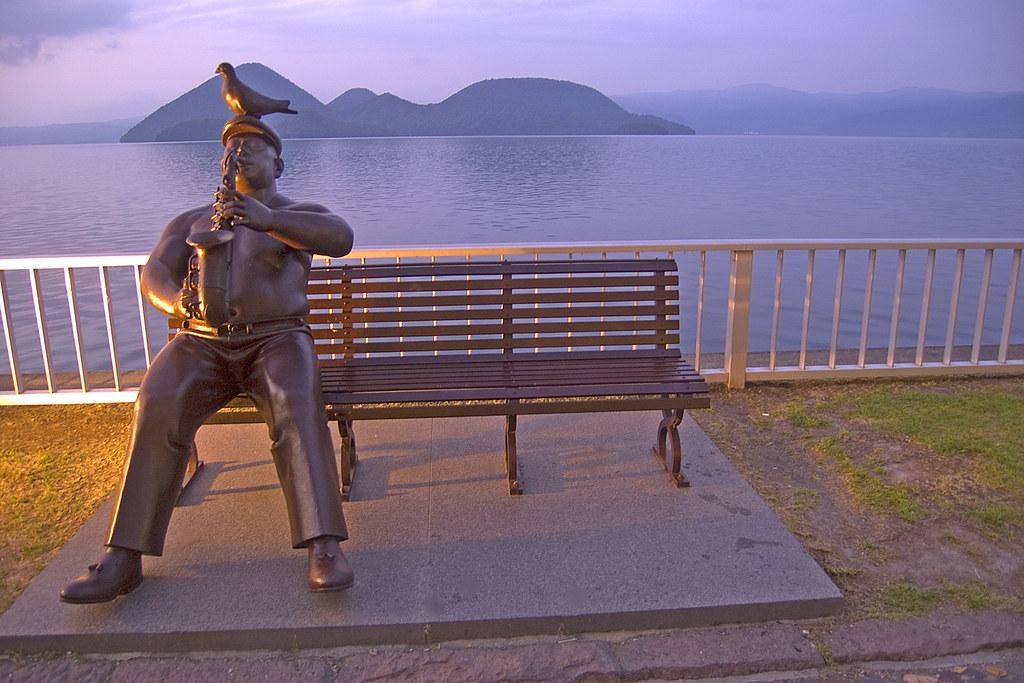 Statue by the lake, Lake Toya, Hokkaido