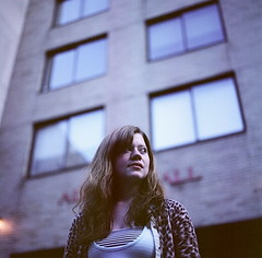 (Leia Jospe) Tags: newyorkcity friends portrait newyork 120 film girl lady mediumformat pose fun hassleblad fit fashioninstituteoftechnology leiajospecom leiajospe