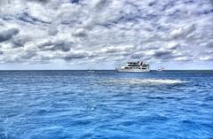 Open Ocean (Muadh N M) Tags: ocean blue sea sky cloud water clouds shark boat waves ship yacht dive scuba hdr