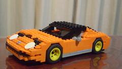 Lamborghini Miura (lego911) Tags: auto italy classic sports car italian lego lamborghini v12 miura moc midengine