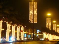 قلبي تولع بالرياض (SaudiSoul) Tags: road street light night lights palm nights riyadh اليوم الرياض العيد نخله الوطني نخيل اضاءه