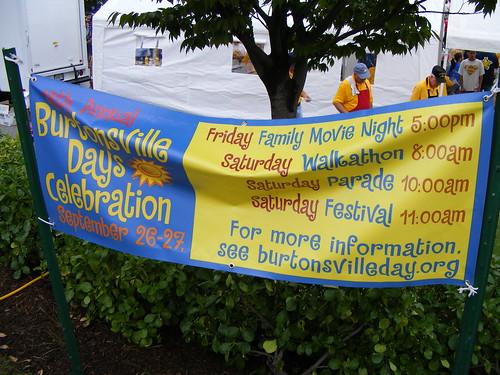 Burtonsville Days Banner
