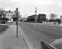 City bus stop (The Library of Virginia) Tags: 1954 richmondva streetscapes busstops libraryofvirginia adolphbricestudio