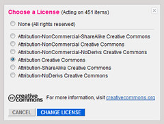 Creative Commons Licensing on Flickr