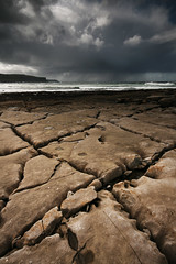 Rock and storm (mcsherryp) Tags: ireland rain clare theburren granite burren geology cracks rainclouds countyclare bigskies coclare rainscomin