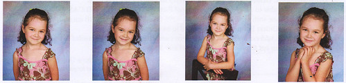 Lily school photos, Kindergarten