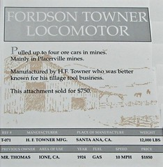 1924 Fordson-Towner Locomotor info (Jack Snell - Thanks for over 21 Million Views) Tags: ca old wallpaper tractor history classic wall vintage woodland paper antique center historic ag vehicle oldtimer trucks veteran 1924 locomotor heidrick jacksnell707 jacksnell heidrickantiqueagcollection fordsontowner