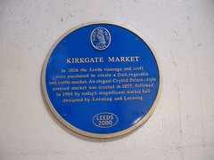 Photo of Joseph Leeming, John Leeming, and Kirkgate Market, Leeds blue plaque