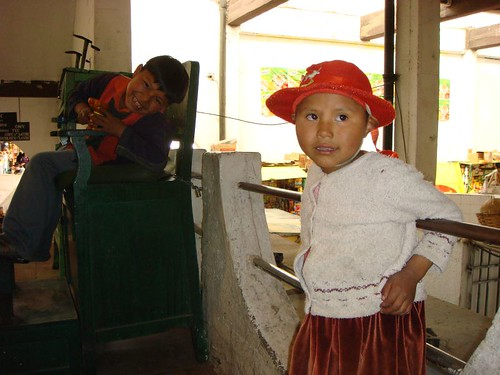 Kids at the main market. Sucre, Bolivia.